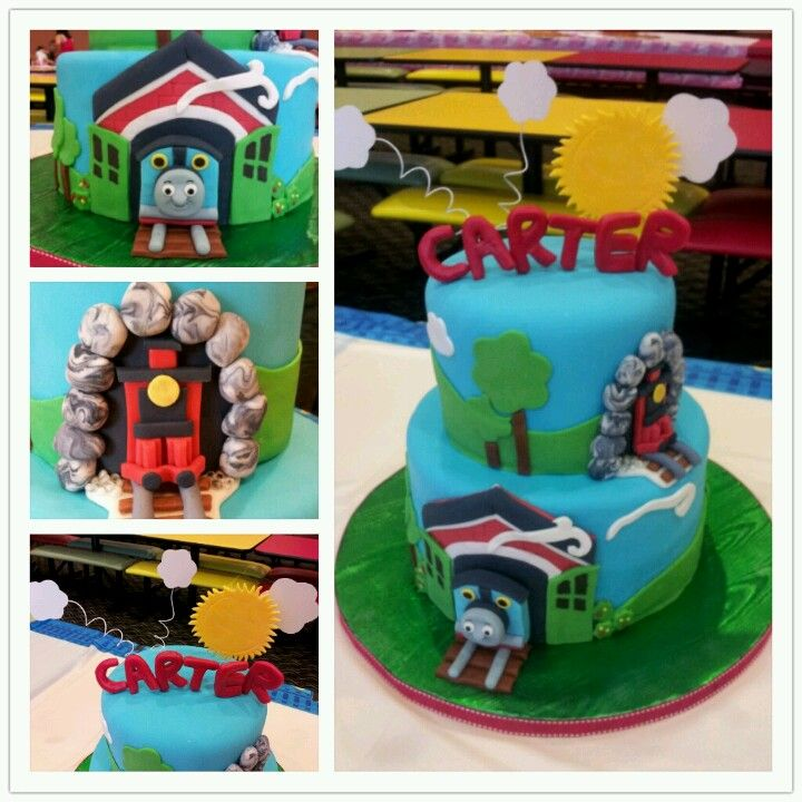 Thomas The Train Cake I Made For My Friend's Son's 2nd