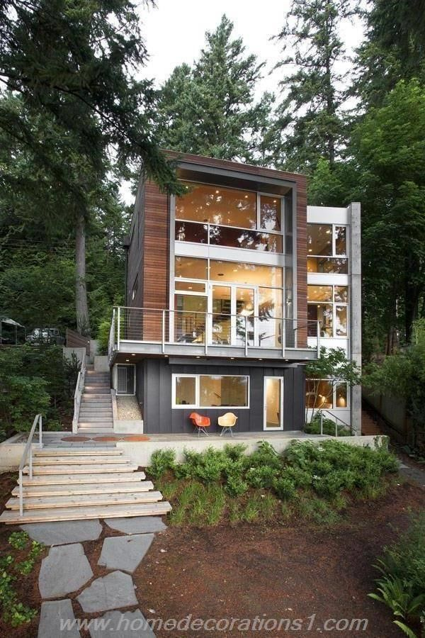 Amusing Modern Home Exterior Design | Home Decorations ... on Modern House Siding Ideas  id=27035