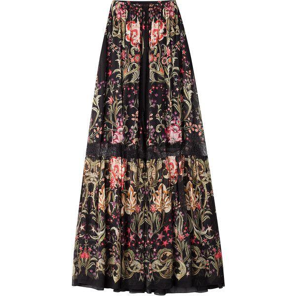 Roberto Cavalli Woman Pleated Printed Silk-chiffon Skirt Multicolor Size 42 Roberto Cavalli Visit New Online Largest Supplier Cheap Price qECp7Ge
