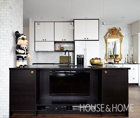 Disguising Your Tv Homey Kitchen Small Spaces Contemporary Kitchen