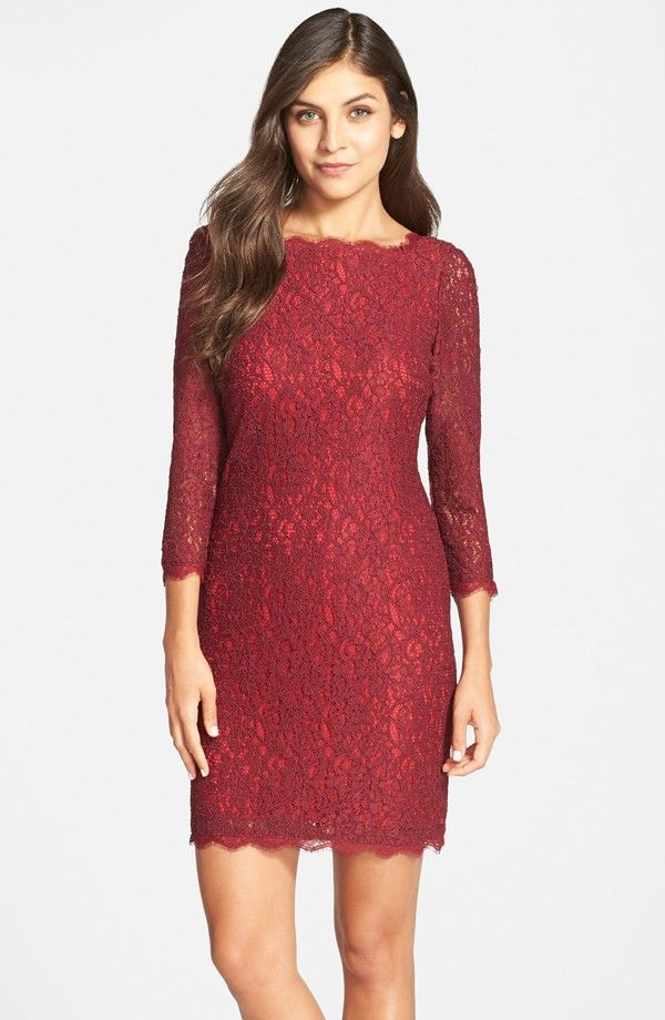 907a2268 Long Sleeve Lace Cocktail Dress | Available at nordstrom.com ...