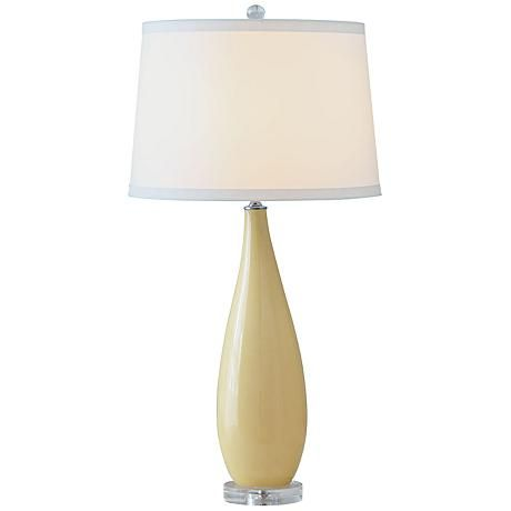 Port 68 Emma Lemon Yellow Porcelain Table Lamp 8g019 Lamps Plus Lamp Table Lamp Lamps Plus