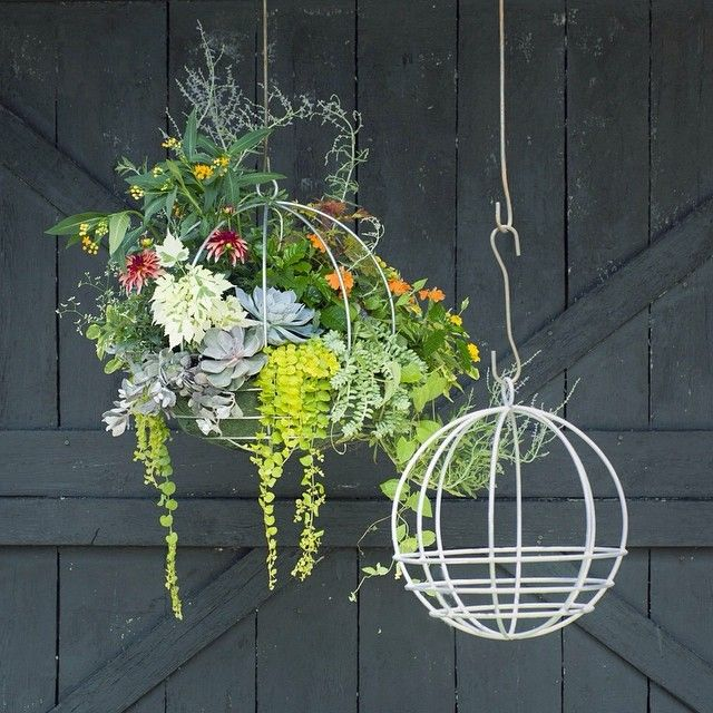 A Few Simple Tips For Planting Our Favorite Hanging Basket From The Terrain Blog Artificial Plants Indoor Indoor Plants Plants