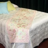 Cottage Blooms Bed Runner - via @Craftsy