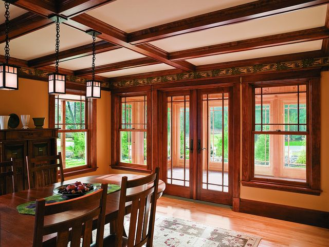 A Series Double Hung Windows  Oak Interior  Prairie Grilles Upper     A Series Double Hung Windows  Oak Interior  Prairie Grilles Upper Sash Only