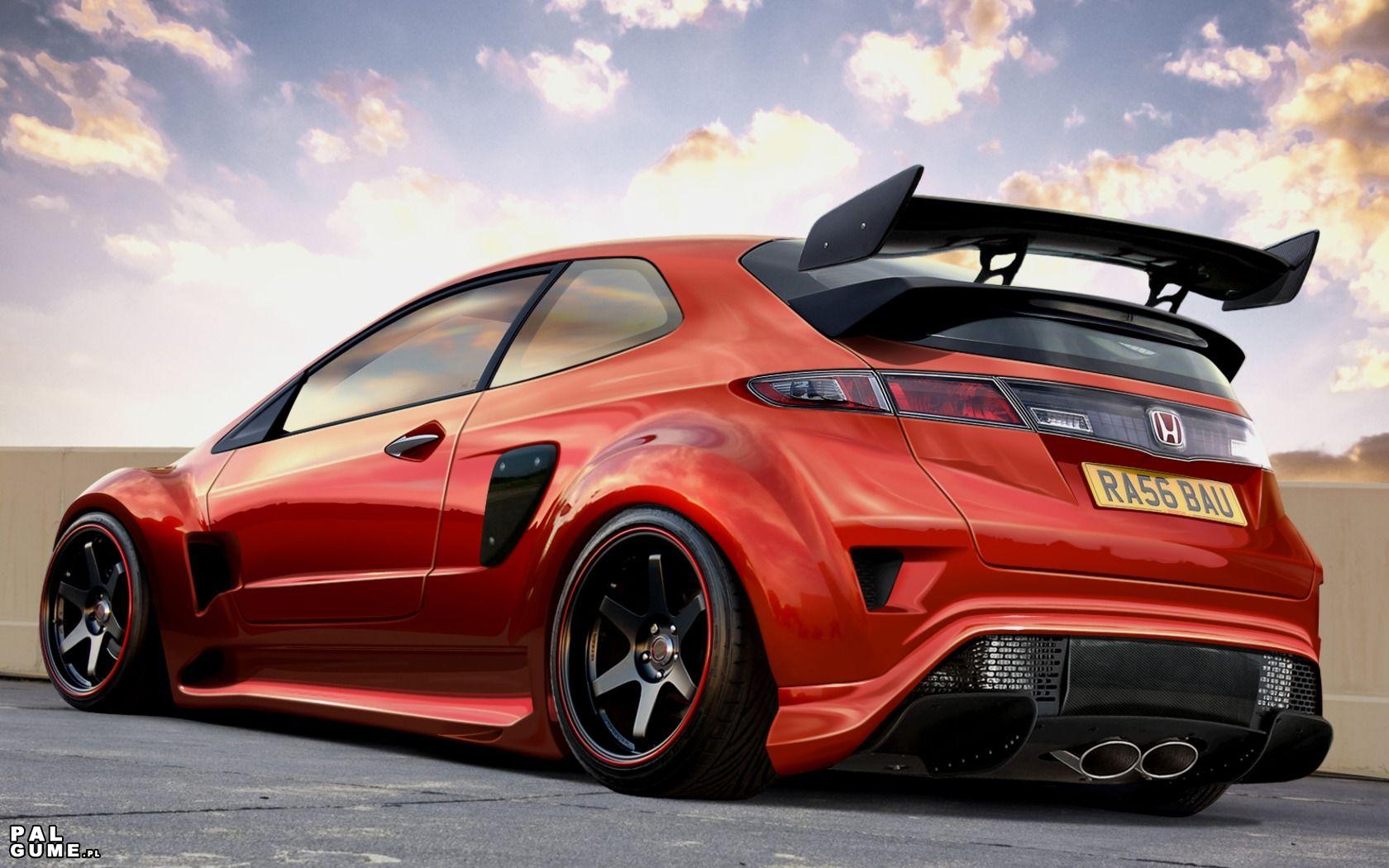 Wallpaper Honda civic type r, Honda civic hatchback
