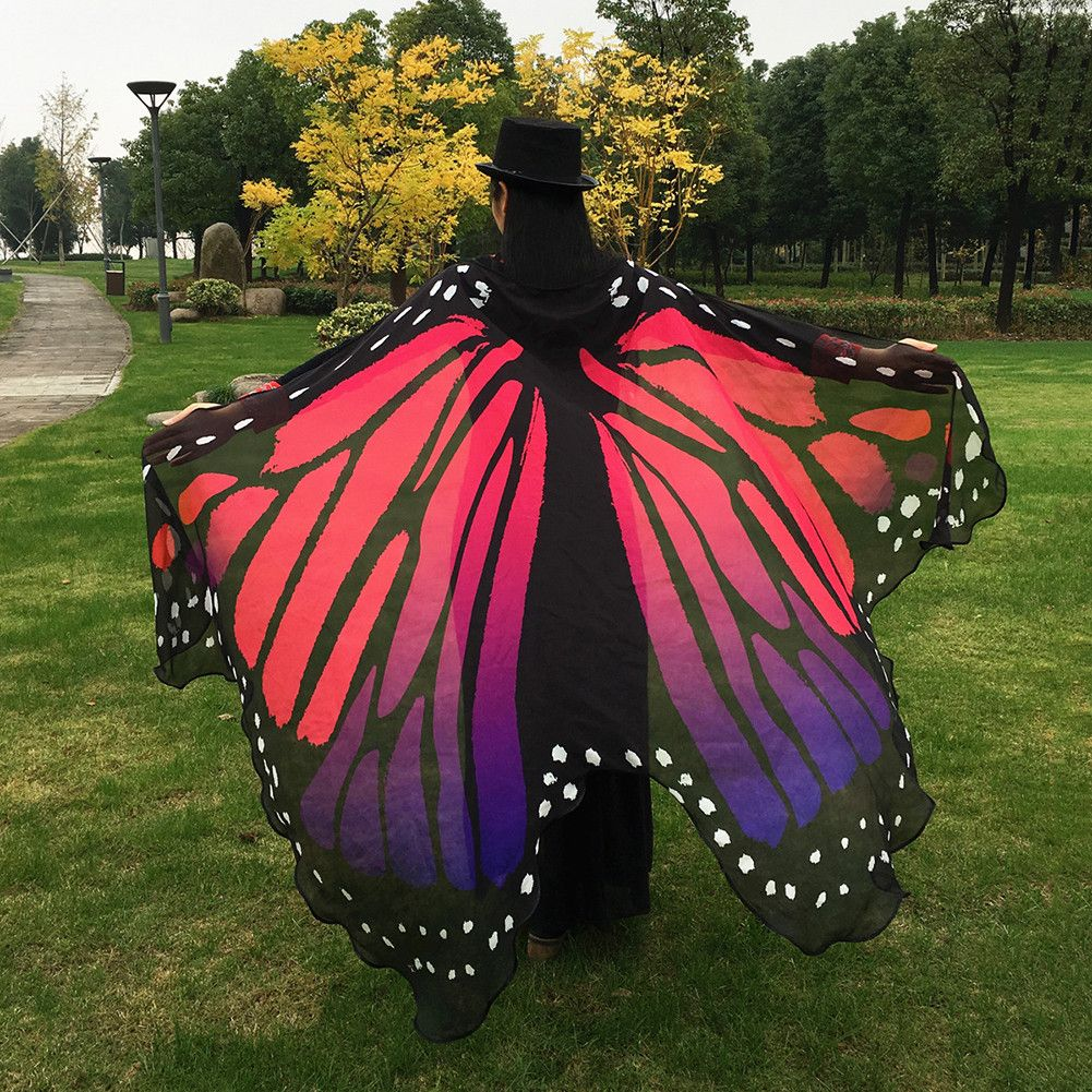 5a38983bae63b Women's Swimwear Bikini Beach Cover Ups Soft Fabric Butterfly Wings ...