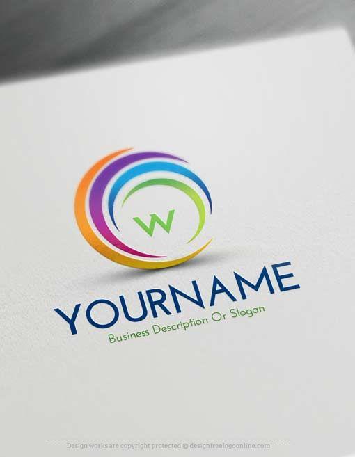 online free logo creator create online swirl logos initials logo