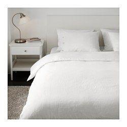 IKEA - LINBLOMMA, Funda nórd y 2 fundas almohada, 240x220/50x60 cm, , Las fibras naturales del lino crean sutiles variaciones que dan un brillo mate y una textura característica a tu ropa de cama.El lino transpira y absorbe la humedad, por lo que ayuda a tu cuerpo a mantener una temperatura agradable y constante durante toda la noche.El lino es un material resistente y duradero que se lava bien y tiene una protección natural antimanchas. Envejece bien y gana con el tiempo.Las cintas…