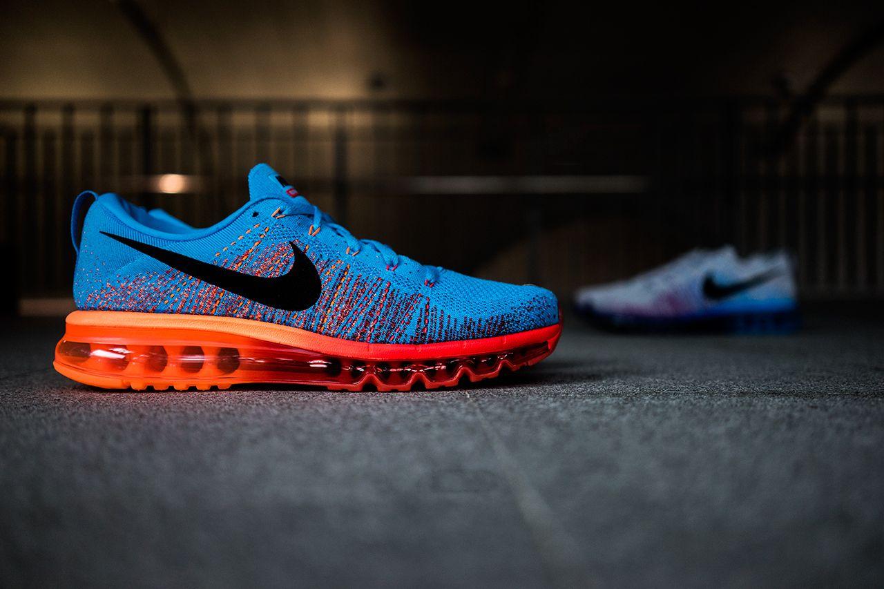 mens nike flyknit air max running shoes