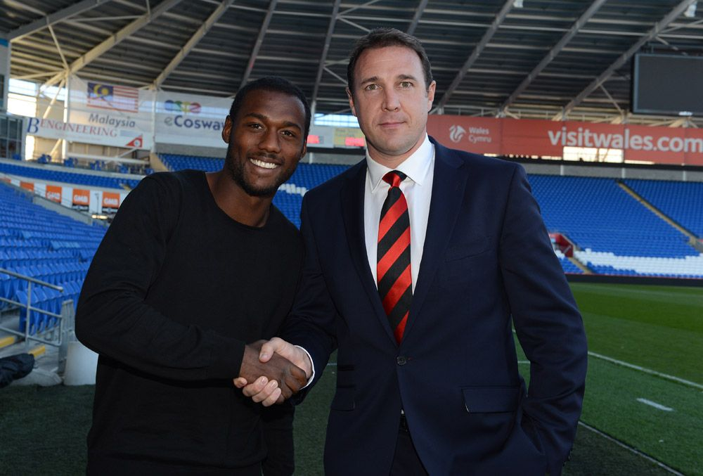 Kevin Théophile-Catherine and Malky Mackay at #CardiffCity Stadium, August 31st 2013