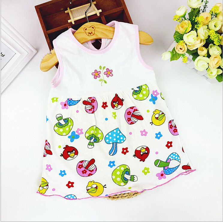 Infant baby girl 0 to 1 years old  dress beautiful cotton dress summer dress sleeveless vestido infantil♦️ SMS - F A S H I O N 💢👉🏿 http://www.sms.hr/products/infant-baby-girl-0-to-1-years-old-dress-beautiful-cotton-dress-summer-dress-sleeveless-vestido-infantil/ US $1.81