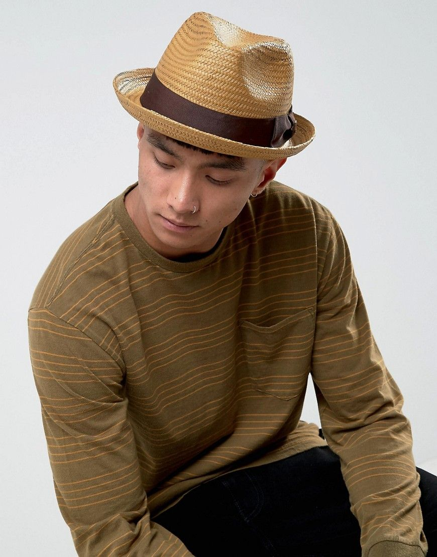 69797d7956821 Get this Brixton s basic hat now! Click for more details. Worldwide  shipping. Brixton Castor Fedora Straw Hat - Tan  Hat by Brixton