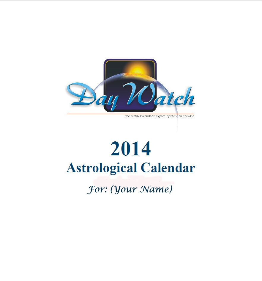 Astrology Report 12 Month Personal Transit Calendar Cd Email