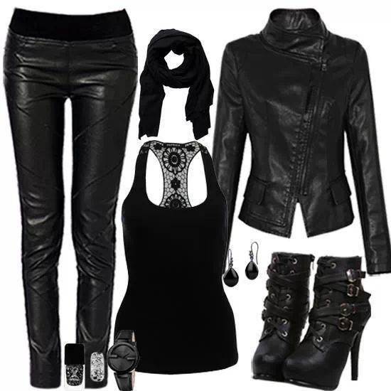 All black Rockstar Outfit!! | Wes Quave Live Trio Photoshoot | Pinterest | Black Clothes and ...