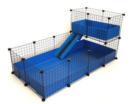 indoor c c loft cage 2x4 with 2x1 loft for guinea pigs. Black Bedroom Furniture Sets. Home Design Ideas