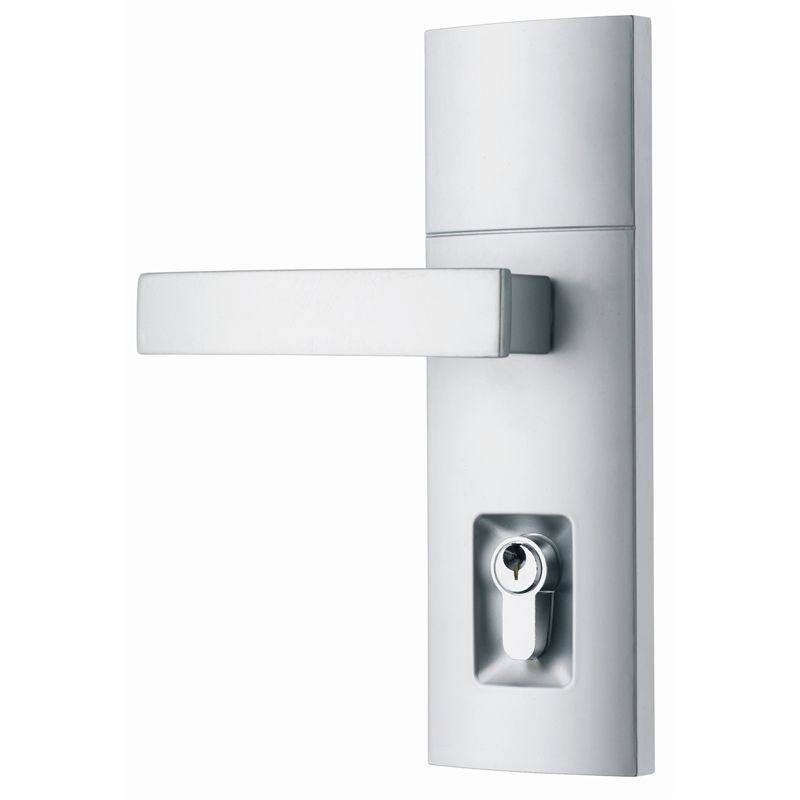 Gainsborough Angular Satin Chrome Contemporary Tri-Lock - Front ...