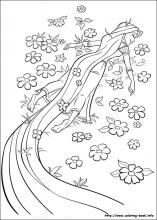 Tangled And Other Princess Coloring Pages On Coloring Book Info