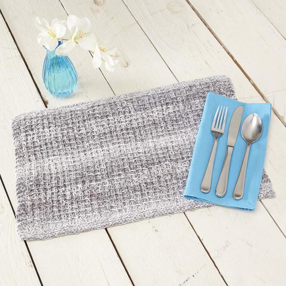 Knit Textured Place Mat Free Knitting Pattern Placemats Patterns Free Knitting Diy Knitting