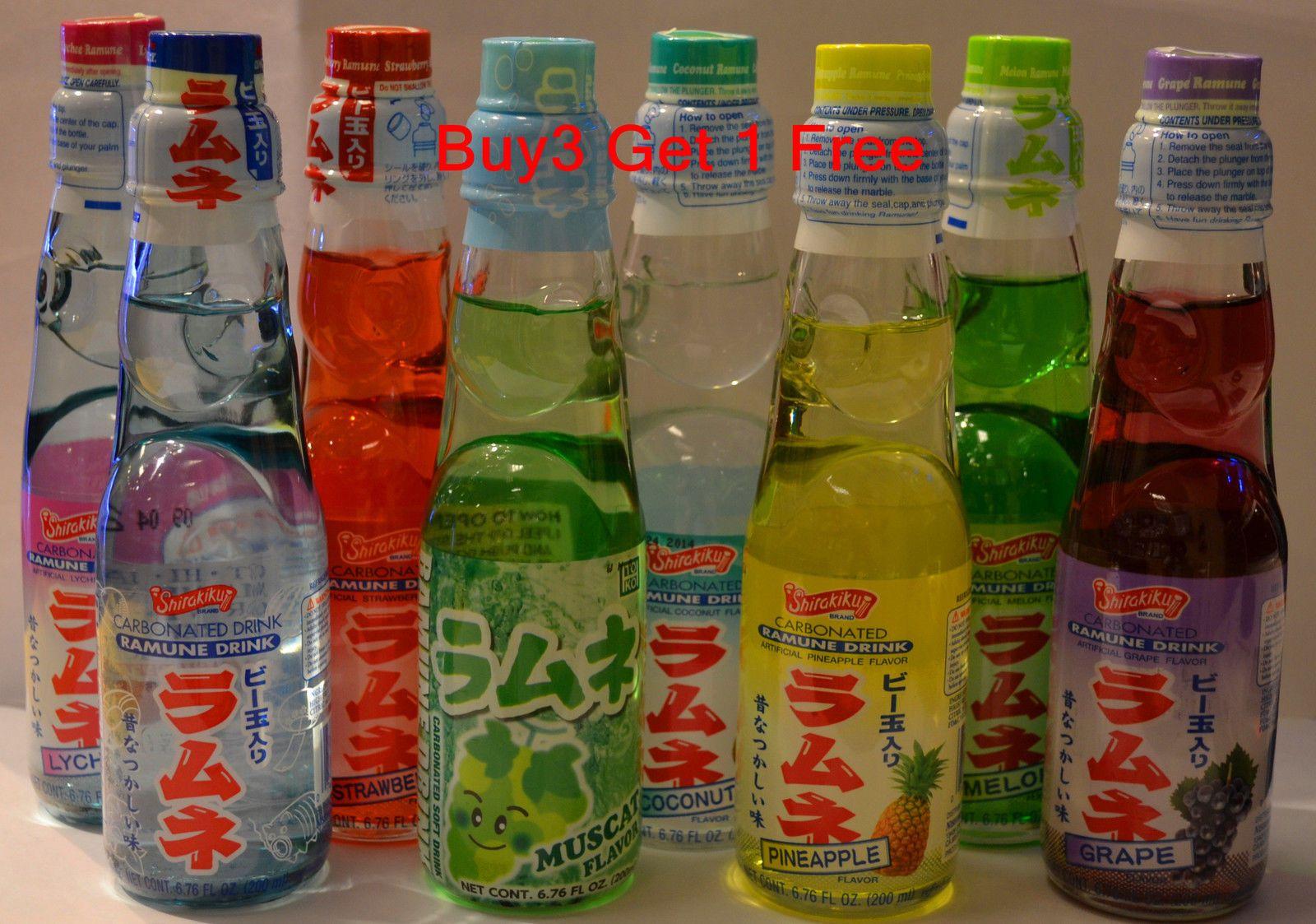 Ramune Japanese Soda 6 76 Oz Carbonate Marble Soft Drink Buy 3 Get 1 Free Ebay