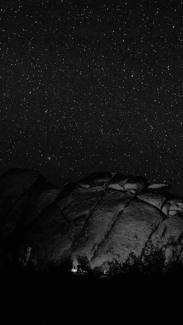 Mystery Rock Night Sky Star Nature Dark Iphone 5s Wallpaper