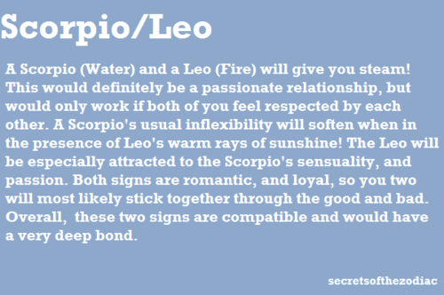 Scorpio and leo lovers