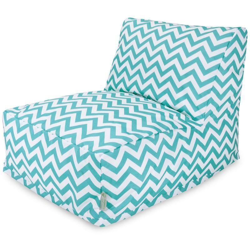 Majestic Home Goods 85907220399 Teal Chevron Bean Bag Chair Lounger