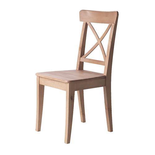 Ingolf silla ikea madera maciza material natural muy for Sillas y taburetes de cocina en ikea