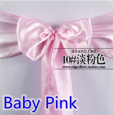 crystal bow tie satin sashes bow tie baby pink colour shiny organza