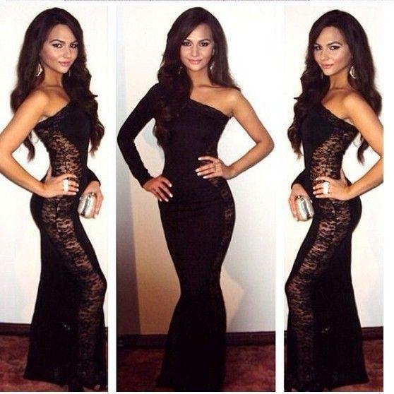 Cheap Floor Length Lace Dresses Bodycon