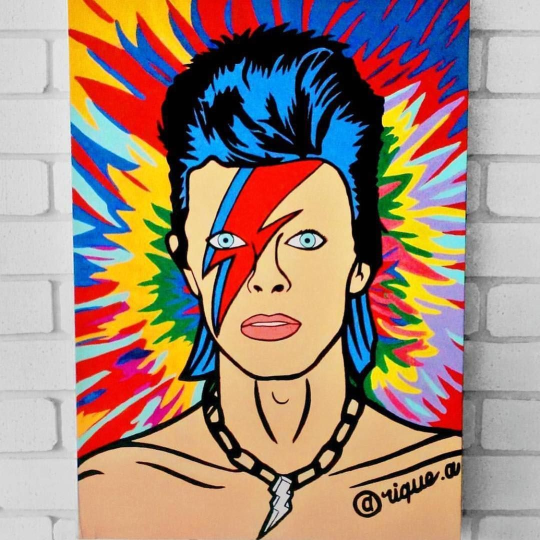 David Bowie bright and beautiful by @rique.a #davidbowie #bowie ...