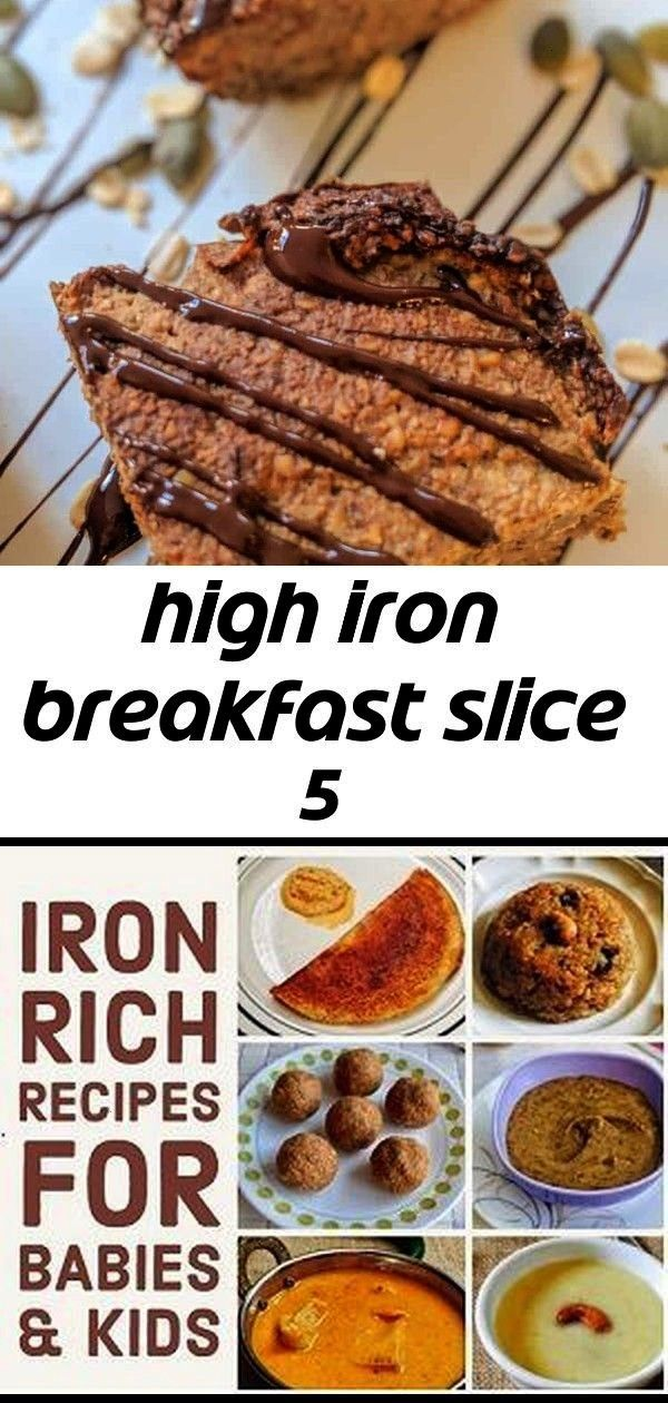 you looking for an easy, kid friendly breakfast that is high in iron? This plant based, vegan slice
