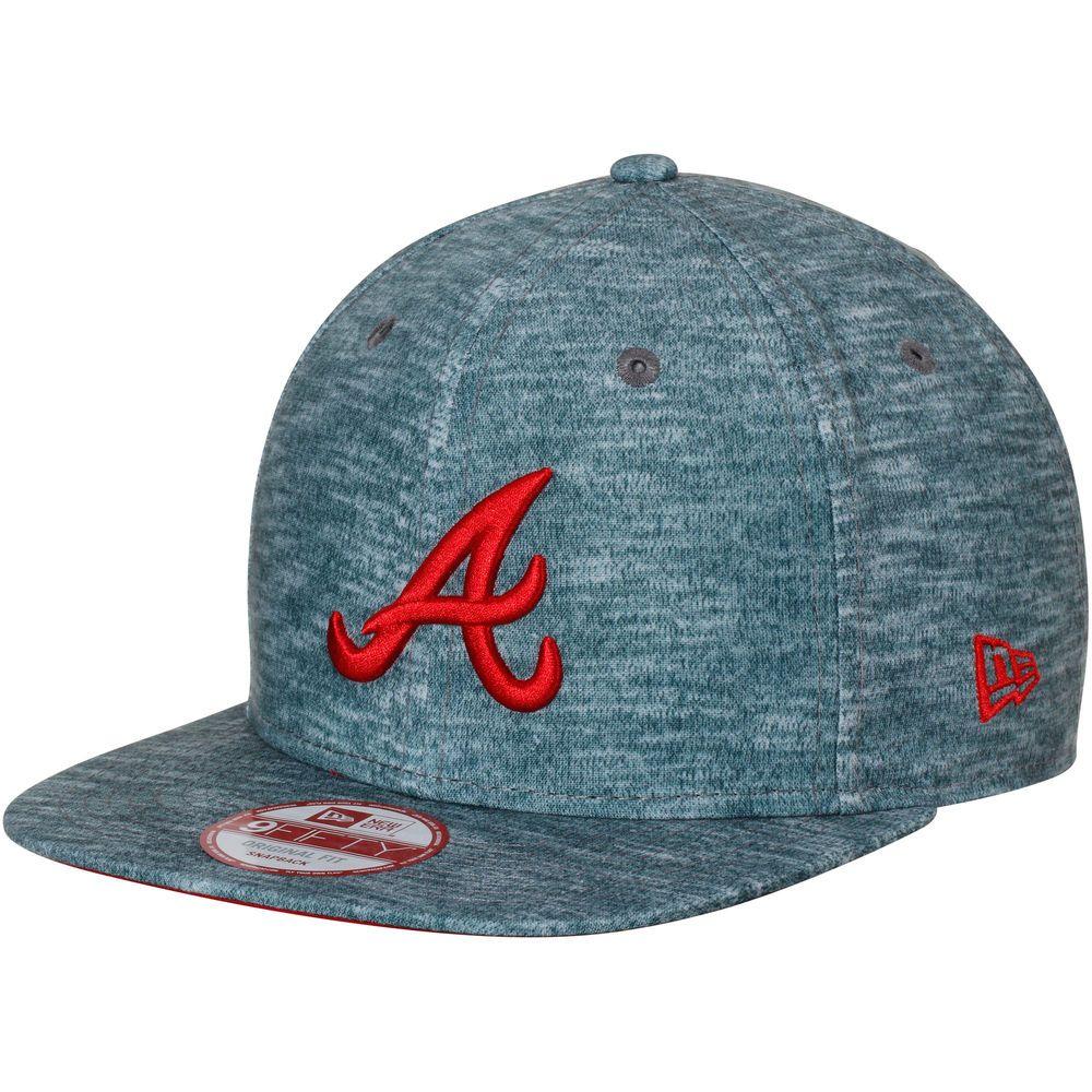 Men S Atlanta Braves New Era Heathered Green Static Clinger Original Fit 9fifty Adjustable Hat Adjustable Hat New Era Atlanta Braves