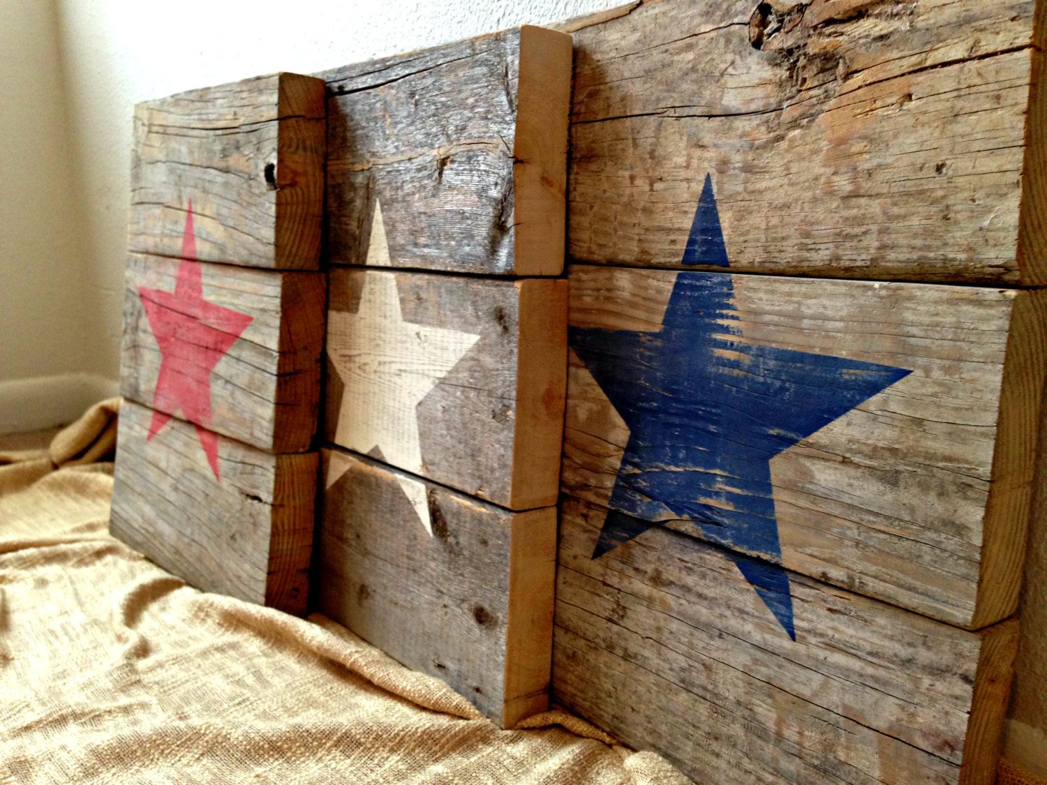 Recycled pallet wood patriotic american star by rusticdesigns