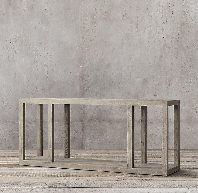 Herringbone Large Console Table Large Console Table Herringbone Wood Floor Console Table