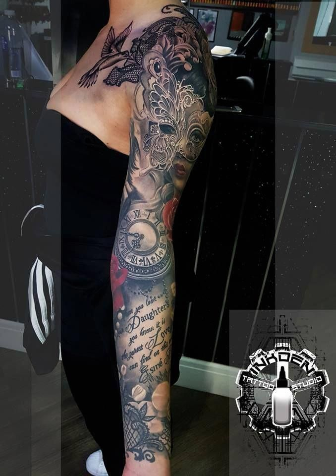 full sleeve fake tattoos