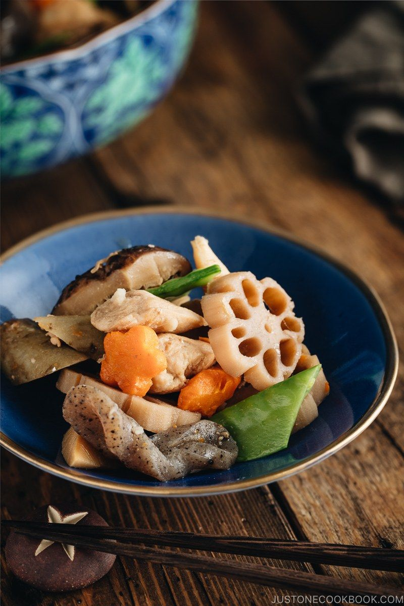 Simmered in a savory dashi based sauce, Nishime is a