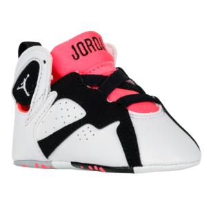 huge discount fb63c bc44f Jordan Retro 7 - Girls' Infant - White/White/Black/Hot Lava ...