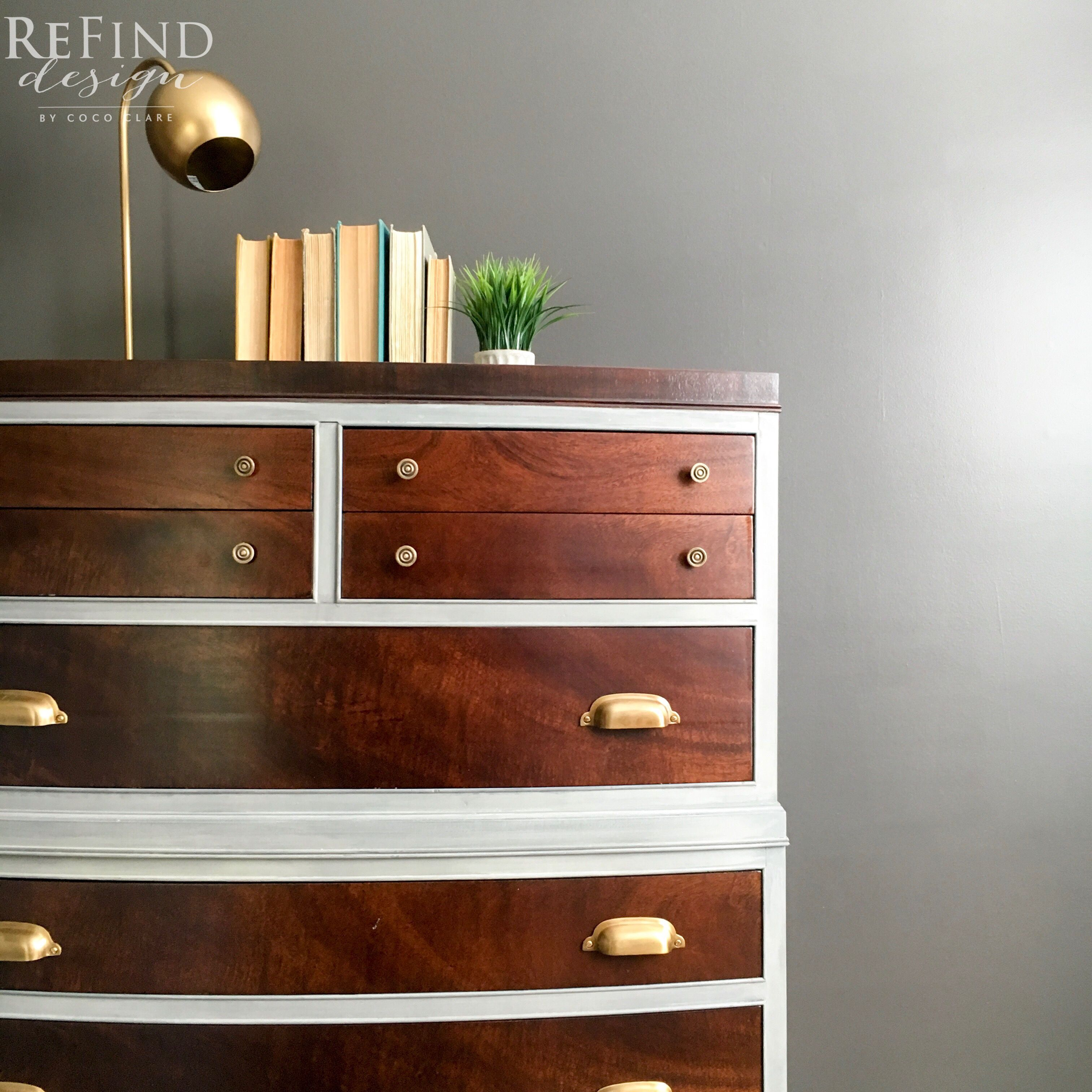 Vintage dresser redesigned using General Finishes Dye Stain and Miss