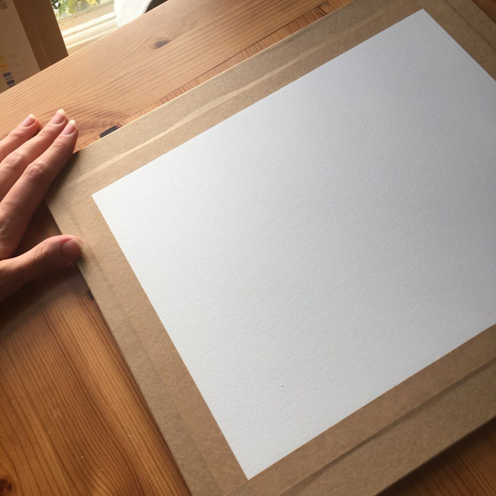Stretching Watercolour Paper Watercolor paper