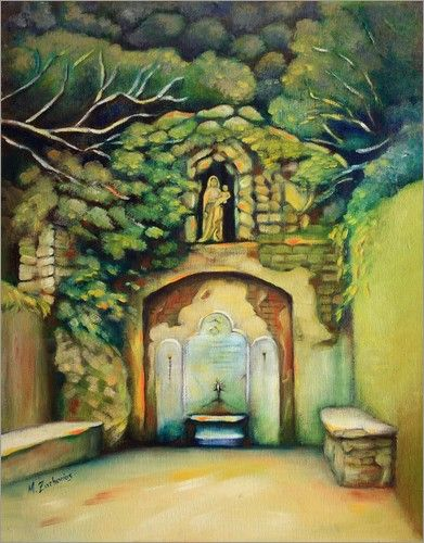 """Sacred Source  and Madonna"" Oil painting, hand painted"