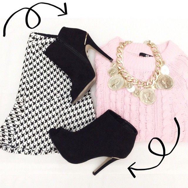 Love Pink (me encanta este conjuntito, y a vosotras?) #zara #hym #sfera #jersey #falda #shoes #love #lookbook #outfit #outfitoftheday #instaday #iger #instagood #instalook #instastyle #instafashion #Instagramers #Padgram