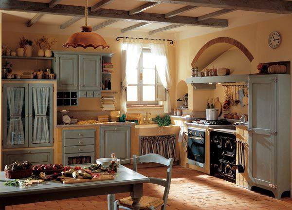 Cucina country e frigo americano a 3 porte la cucina dei for Case stile americano interni