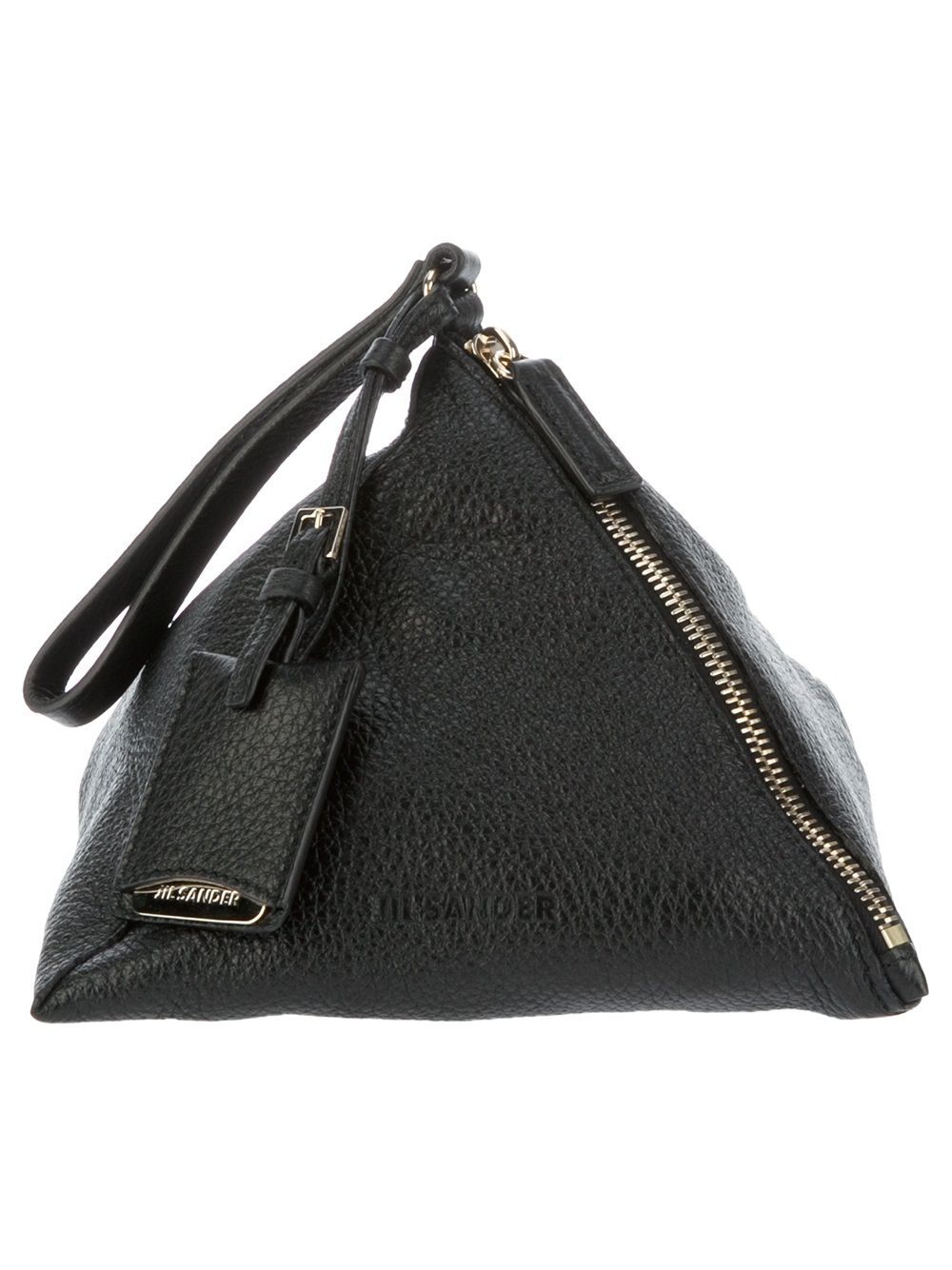 pyramid clutch bag - Black Jil Sander