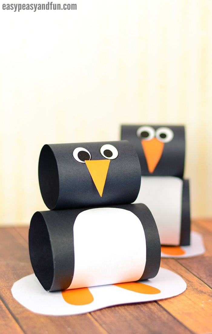 Paper Penguin Craft #christmascraftsforkidstomake