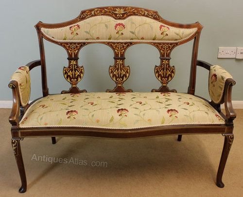 Edwardian Antique Rococo Solid Carved Walnut 3 Seater Salon Canape Sofa Settee Goods Of Every Description Are Available Sofas Sofas/chaises