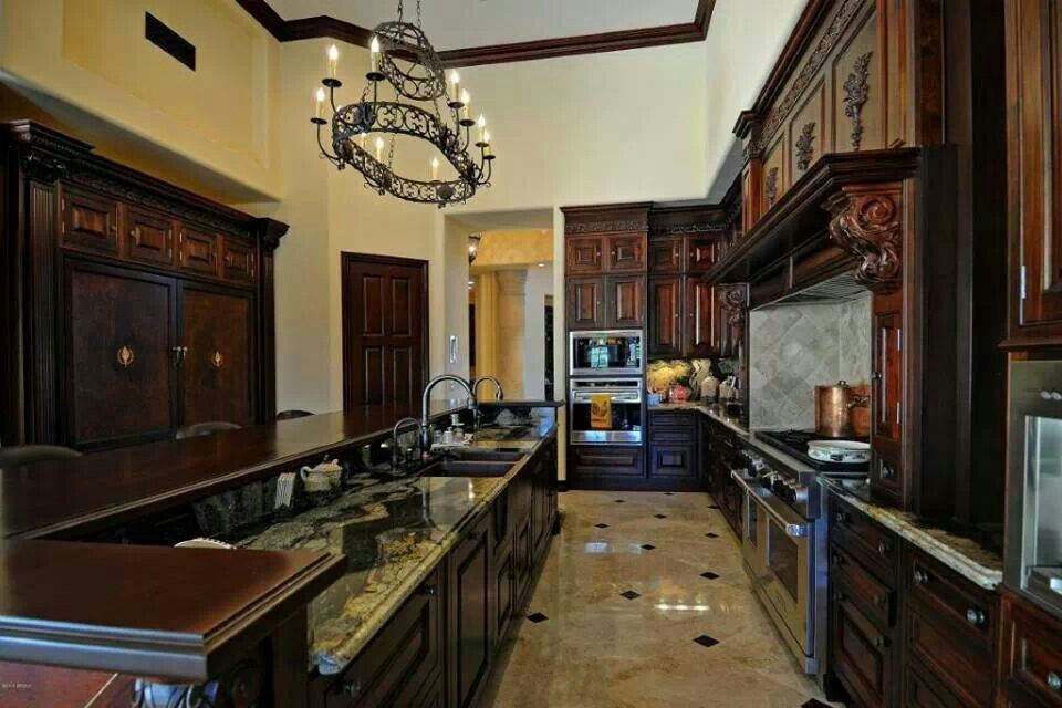Love everything about this kitchen beautiful houses inside homes luxury kitchens also home pinterest rh in