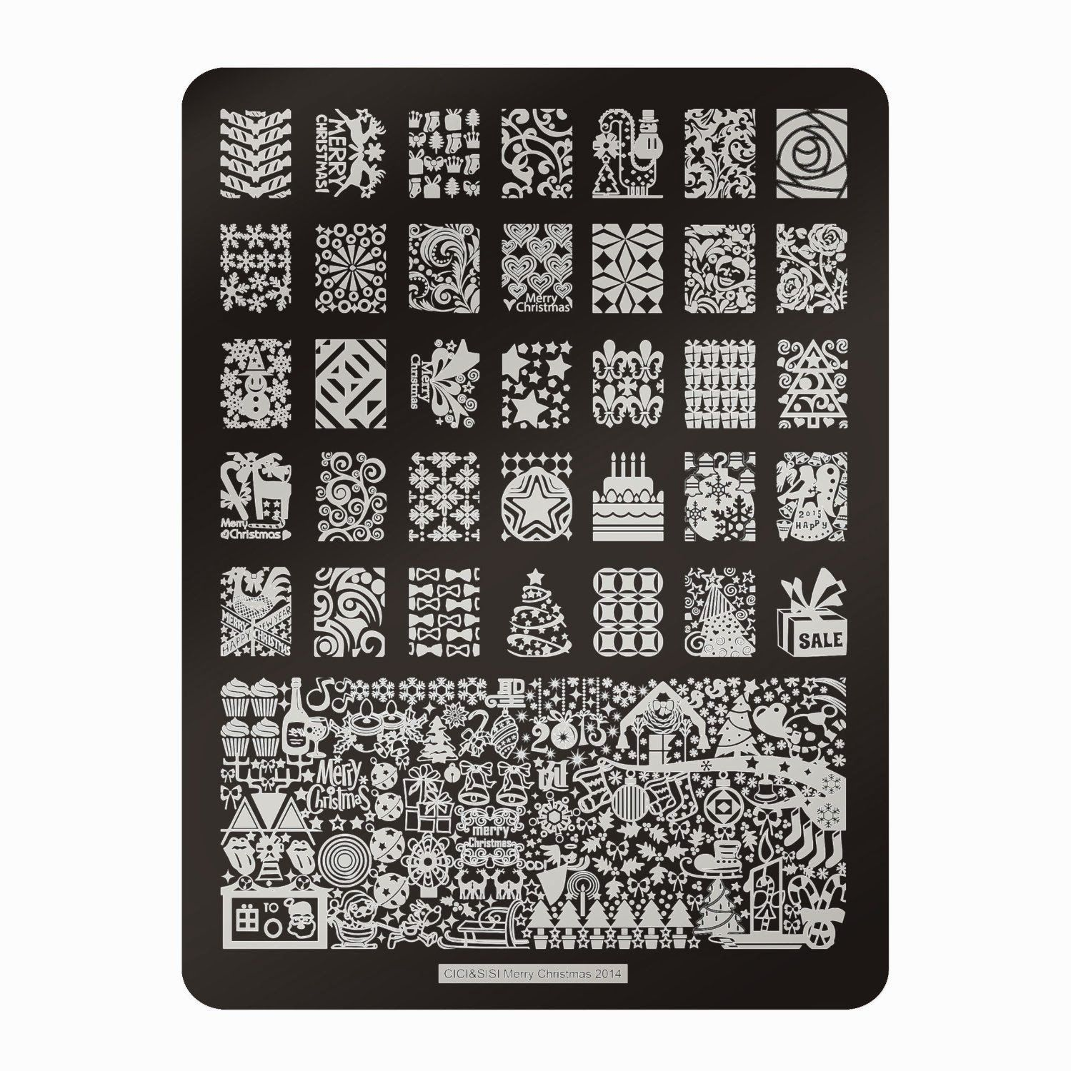 stamping plate cici & sisi christmas 2014 - Google Search   All ...