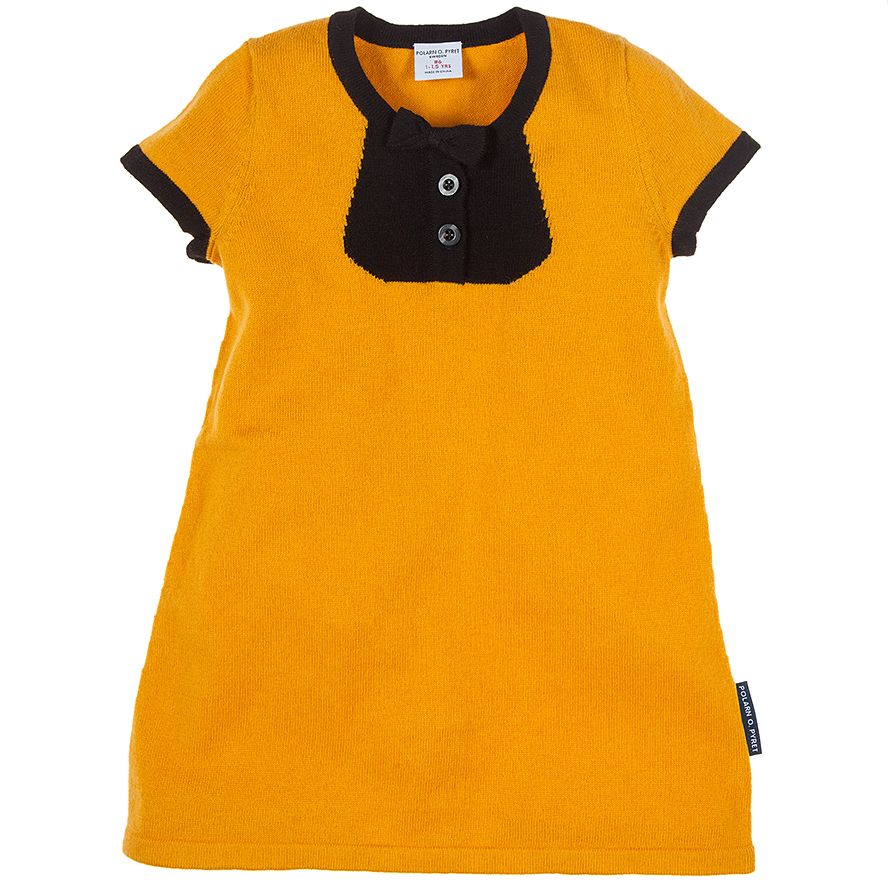 Yellow dress kids  Fine Knit Little Bow Baby Dress  Kids  clothing  fashion
