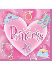 Princess Lunch Napkins 16ct - Girls Party Themes - Girls Birthday - Birthday Party Supplies - Categories - Party City